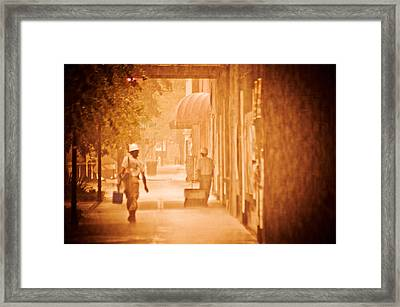 Working Men Framed Print by Carolyn Marshall