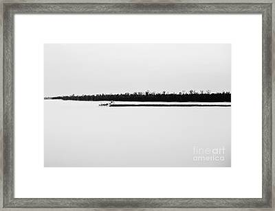 Working The River Framed Print by Scott Pellegrin