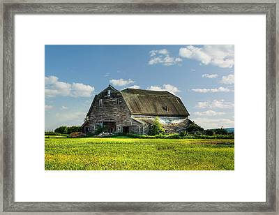 Working This Old Barn Framed Print by Gary Smith