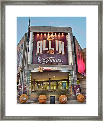 World Champion Cleveland Cavaliers Framed Print by Frozen in Time Fine Art Photography