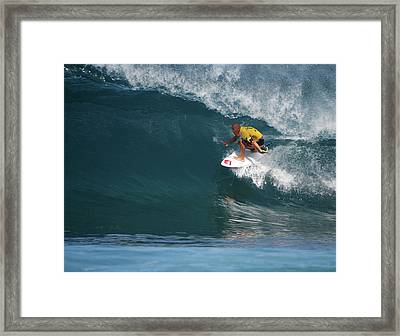 World Champion In Action Framed Print by Kevin Smith