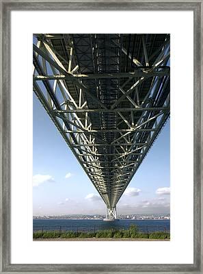 World Class Suspension Bridge - Japan Framed Print by Daniel Hagerman