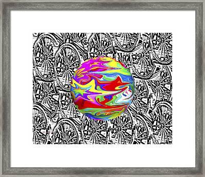 World Hub Framed Print by Betsy C Knapp