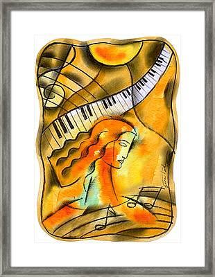 World Of Music Framed Print by Leon Zernitsky