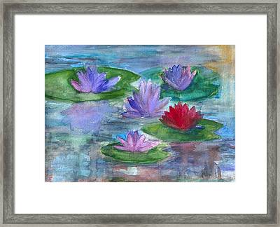 World Of Water Lilies Framed Print by Claudia Smaletz