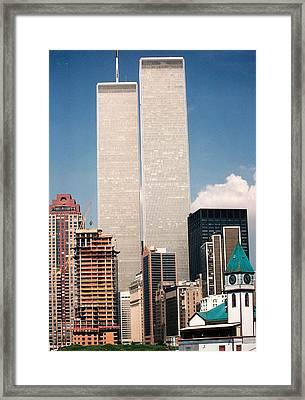 World Trade Center 1990 Framed Print by Lauri Novak