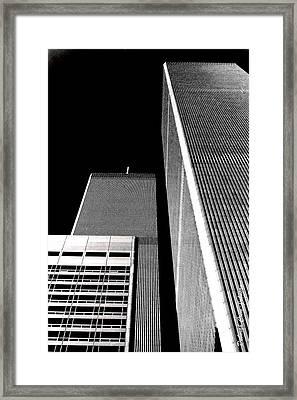 World Trade Center Pillars Framed Print by Deborah  Crew-Johnson
