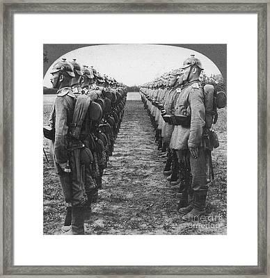 World War I: German Troop Framed Print by Granger