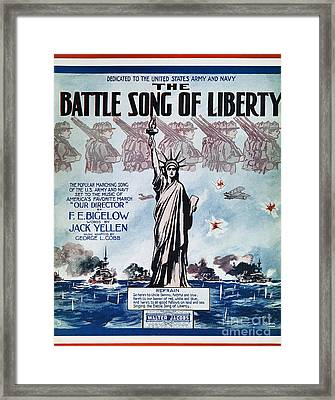 World War I: Song Sheet Framed Print by Granger