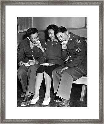 World War II, Corporal Frank N Framed Print by Everett