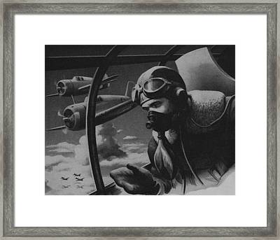 World War II Fighter Pilot Framed Print by American School