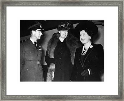 World War II. King George Vi Of England Framed Print by Everett