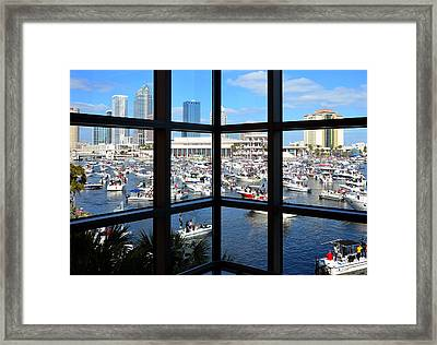 Worlds Biggest Boat Party Framed Print by David Lee Thompson