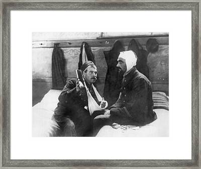 Wounded Belgian Soldiers Framed Print by Underwood Archives