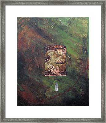 Wounded Earth - Water Framed Print by Janelle Schneider