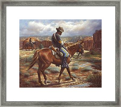 Wounded In Action Framed Print by Harvie Brown