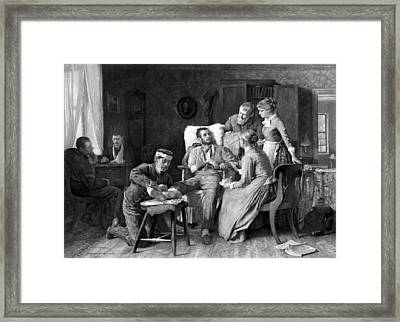 Wounded Soldier At The Battle Of Gettysburg Framed Print by War Is Hell Store