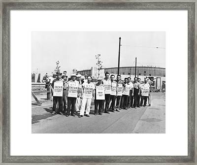 Wpa Strikers Framed Print by Underwood Archives