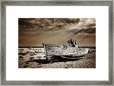 Wrecked Framed Print by Meirion Matthias