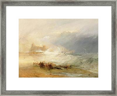 Wreckers - Coast Of Northumberland Framed Print by Joseph Mallord William Turner
