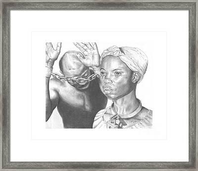 Wretched Bonds Of Slavery Framed Print by Sandra Pryer