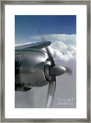 Wright R-3350 Duplex-cyclone Radial Engine On A Lockheed Constel Framed Print by Wernher Krutein