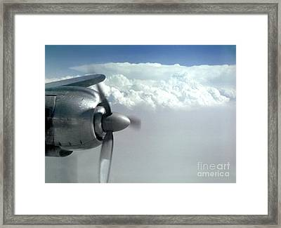 Wright R-3350 Radial Engine, Lockheed Constelation Framed Print by Wernher Krutein