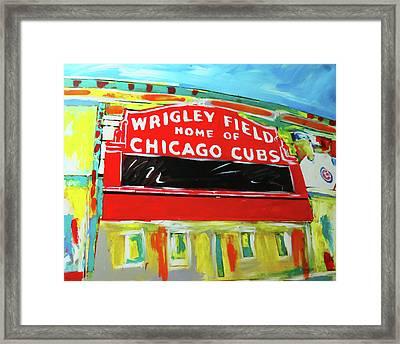 Wrigley Field Framed Print by Elliott From