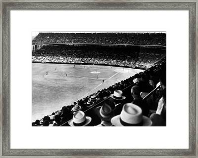 Wrigley Field, Fans Jam The Stands Framed Print by Everett