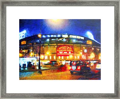 Wrigley Field Home Of Chicago Cubs Framed Print by Michael Durst
