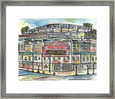 Wrigley Field Framed Print by Matt Gaudian