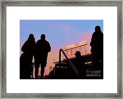 Wrigley Field's Silhouettes Framed Print by Allen Meyer
