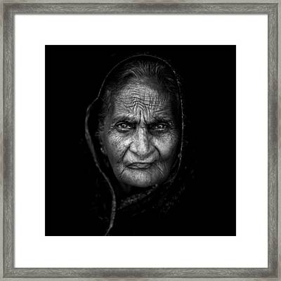 Wrinkles Framed Print by Mohammed Baqer