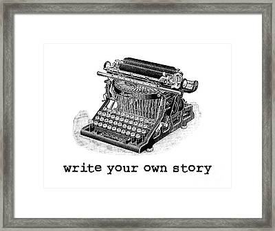 Write Your Own Story T-shirt Framed Print by Edward Fielding