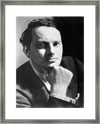 Writer Thomas Wolfe Framed Print by Underwood Archives