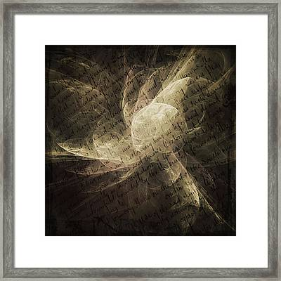 Written On My Heart Framed Print by Georgiana Romanovna