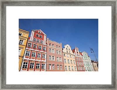 Wroclaw Old Town Houses Framed Print by Artur Bogacki
