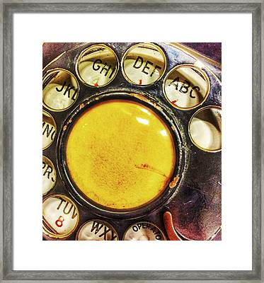 Wrong Number  Framed Print by Jame Hayes