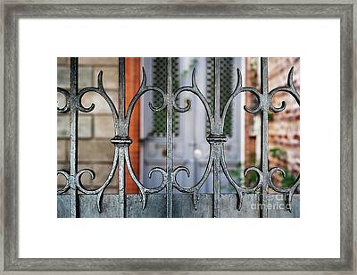Wrought Iron Framed Print by Elena Elisseeva