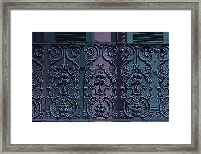 Wrought Iron Railings Framed Print by Garry Gay