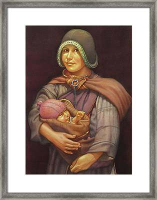 Ws1979dc003 Mother And Child 18x24 Framed Print by Alfredo Da Silva