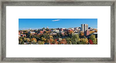 Wsu Autumn Panorama Framed Print by David Patterson
