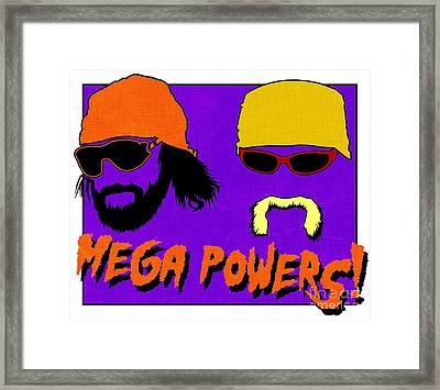 Wwf -- Mega Powers Framed Print by Kyle West