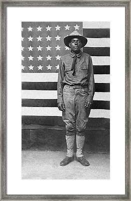 Wwi African American Soldier Framed Print by Underwood Archives