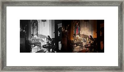 Wwii - I'll Pray For You 1944 Side By Side Framed Print by Mike Savad