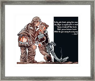 Wwii Joe Dope Cartoon Framed Print by War Is Hell Store