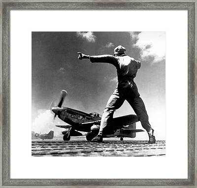 Wwii, North American P-51 Mustang, 1940s Framed Print by Science Source