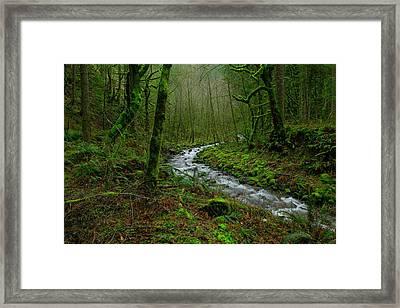 Wyeth Creek In Early Spring Framed Print by Jeff Swan