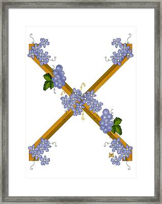 X Is For Ten Framed Print by Anne Norskog