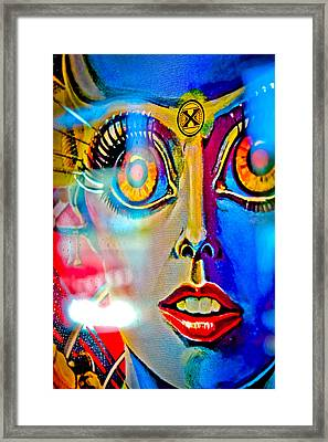 X Is For Xenon - Pinball Framed Print by Colleen Kammerer
